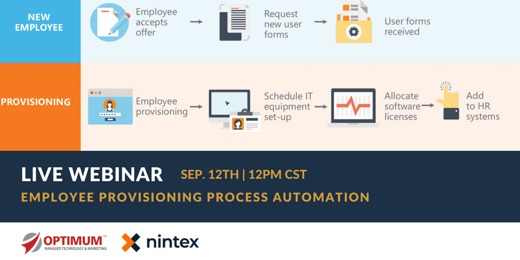 Process Automation Employee Provisioning Webinar Optimum Nintex 2
