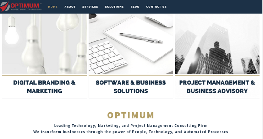 optium homepage